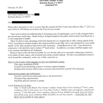 photo of beachbrook apartments redondo beach ca united states rent increase letter