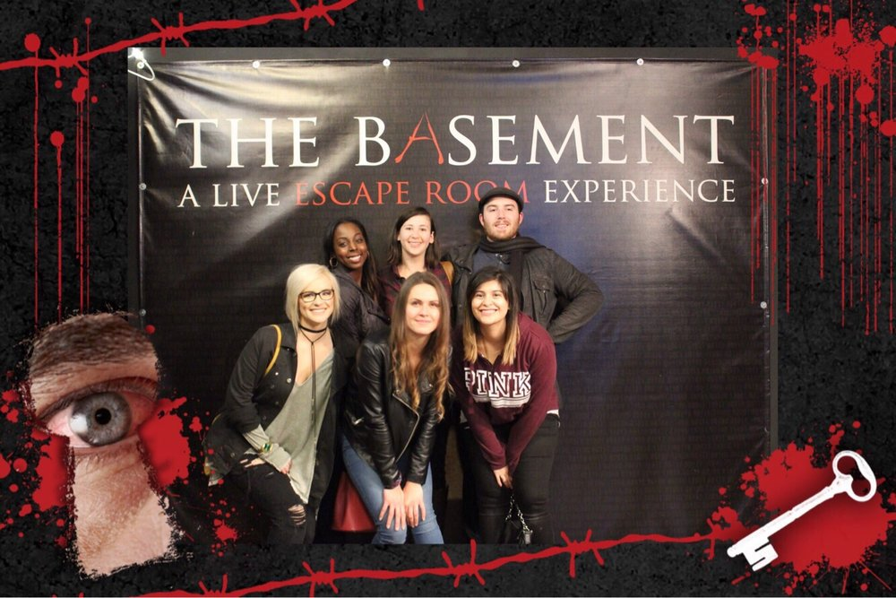 My lil team that almost escaped the study yelp for The basement a live escape room experience events