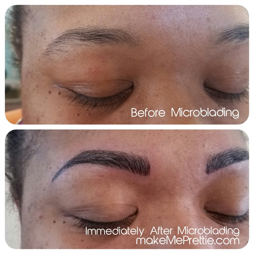 Microblading Brows 3d Eyebrows Tattoo Waxing Barber Salon Microblade