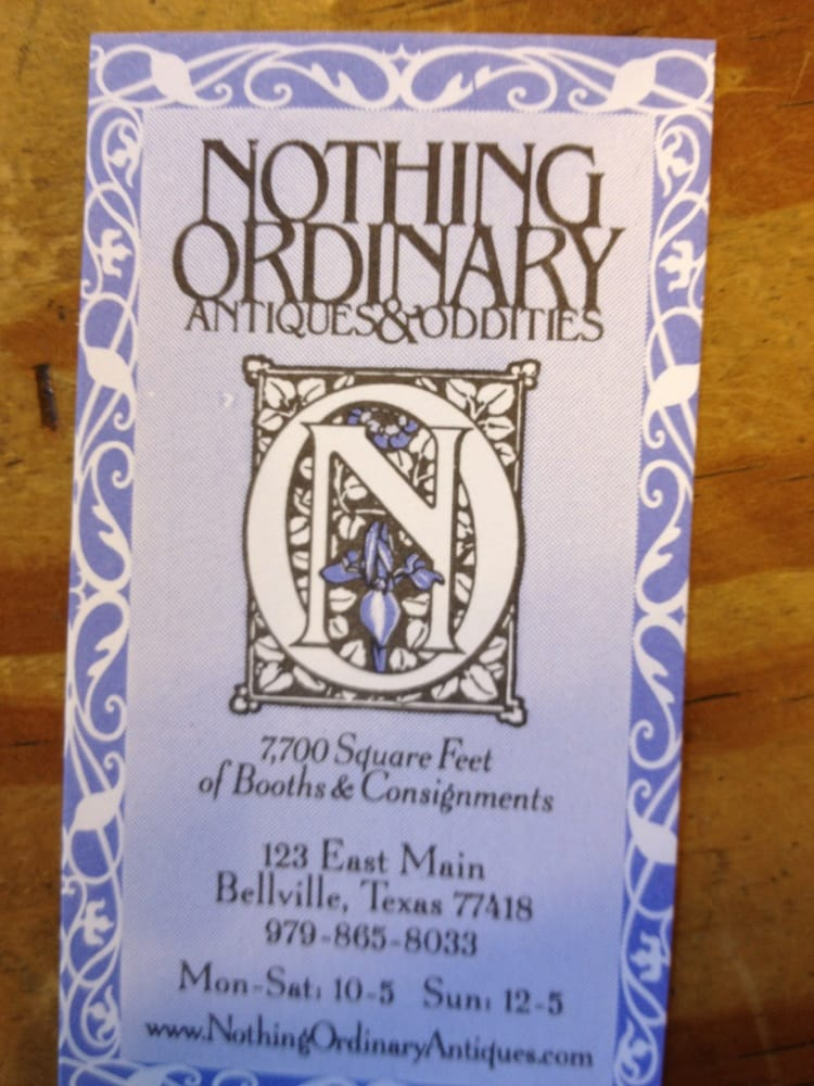 Nothing Ordinary Antiques: 123 E Main St, Bellville, TX