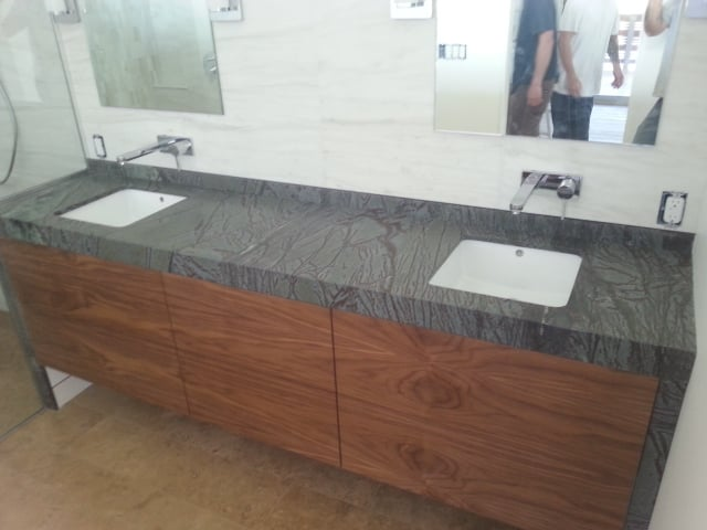 2 cm soapstone with a 2 1 4 inch mitered edge yelp for 1 inch granite countertops