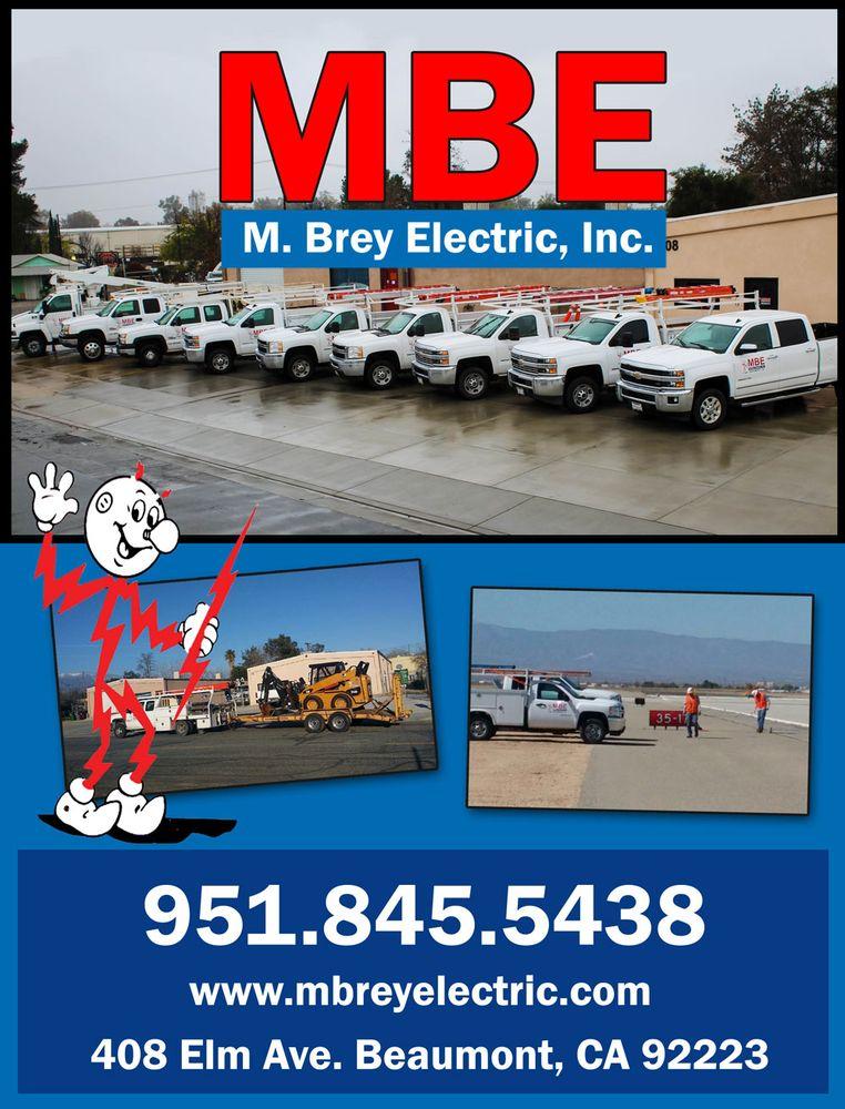 M Brey Electric: 408 Elm Ave, Beaumont, CA