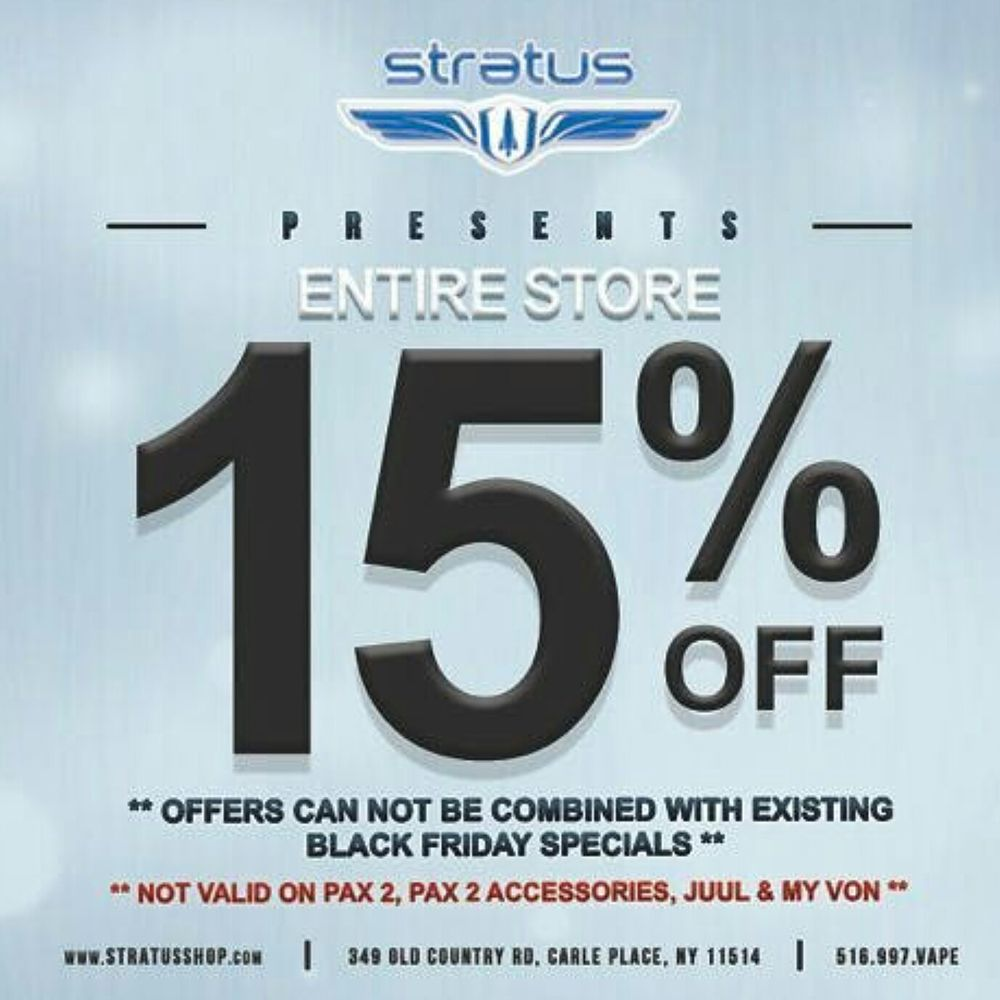 Stratus Vapor Lounge: 349 Old Country Rd, Carle Place, NY