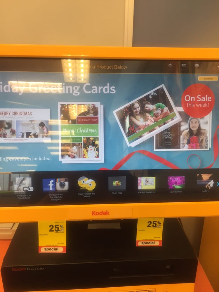 the kodak kiosk is very user friendly