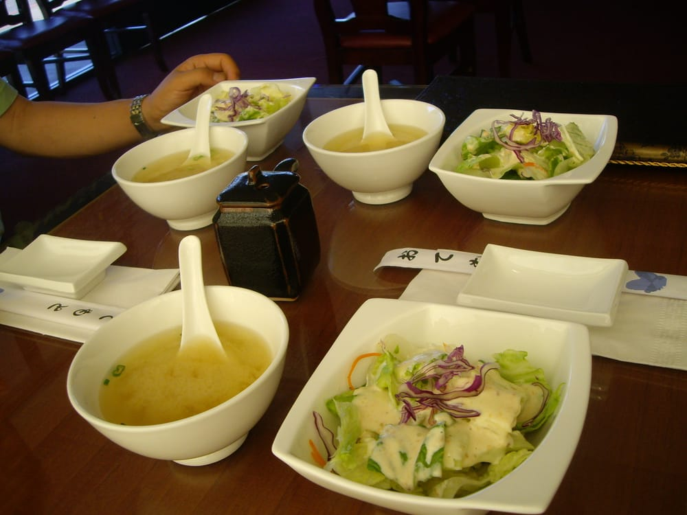 Starting The Meal With Miso Soup And Salad Yelp