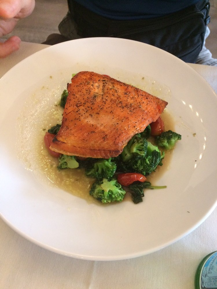 Salmon with vegetables yelp for P cucina italiana
