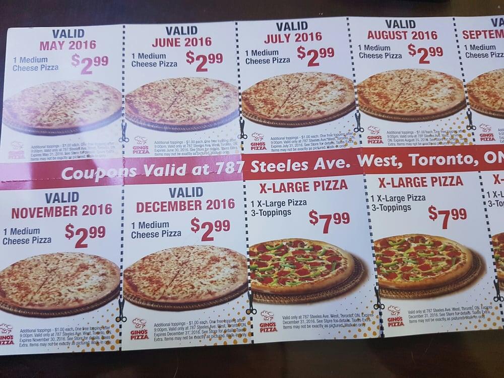 pizza coupon toronto