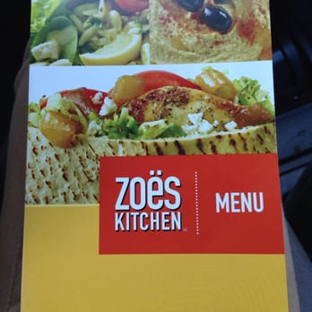 Zoes Kitchen Lynchburg Menu