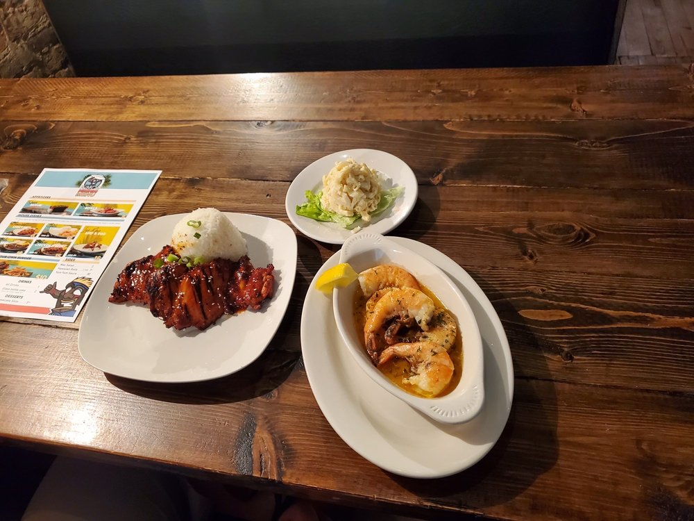 Food from Kimo's Hawaiian Grill