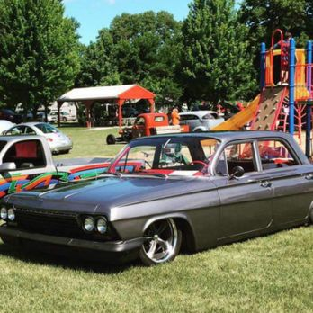 Bagged 62 Chevrolet Biscayne used as the Police car for the