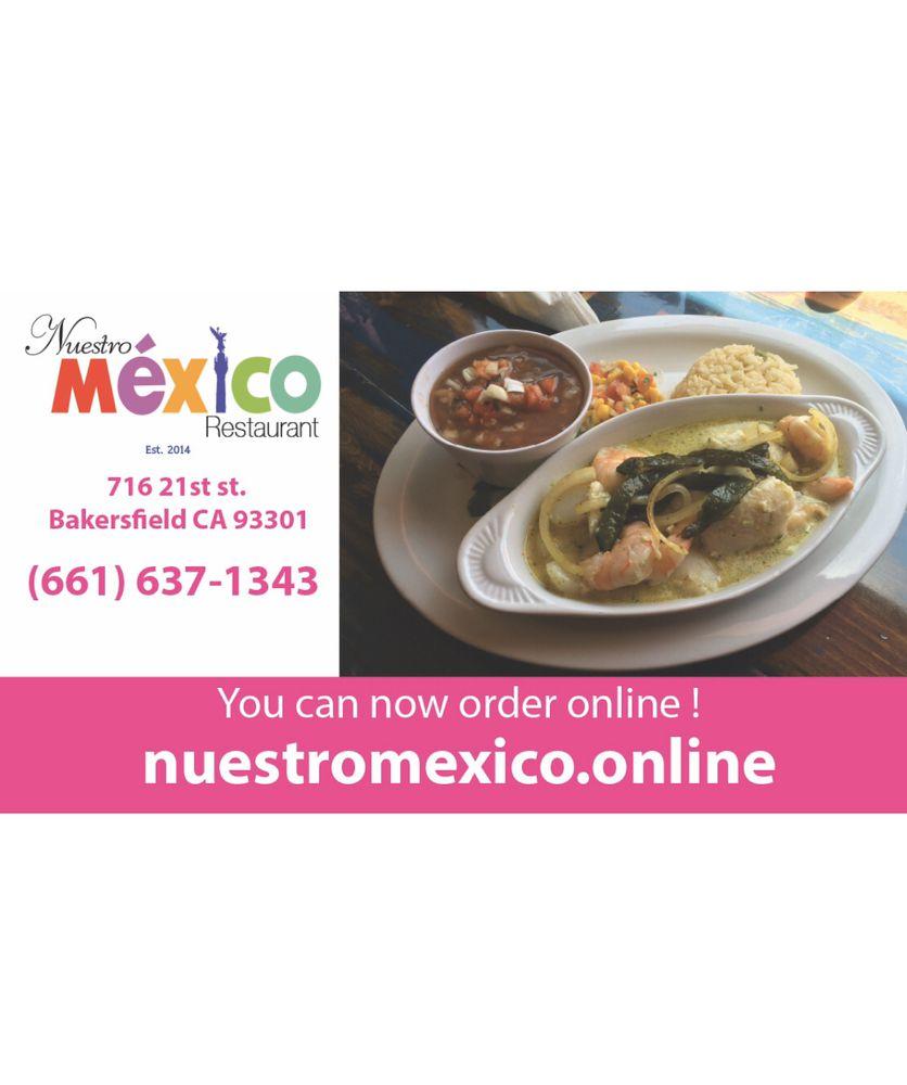 Food from Nuestro Mexico Restaurant