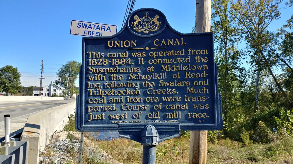 Union Canal Historical Marker: 3140 River Rd, Middletown, PA