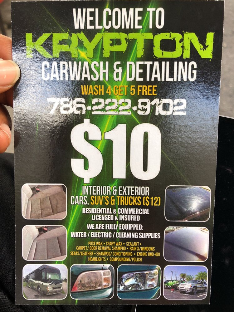 Krypton Car Wash And Detailing: 4615 NW 2nd Ave, Miami, FL