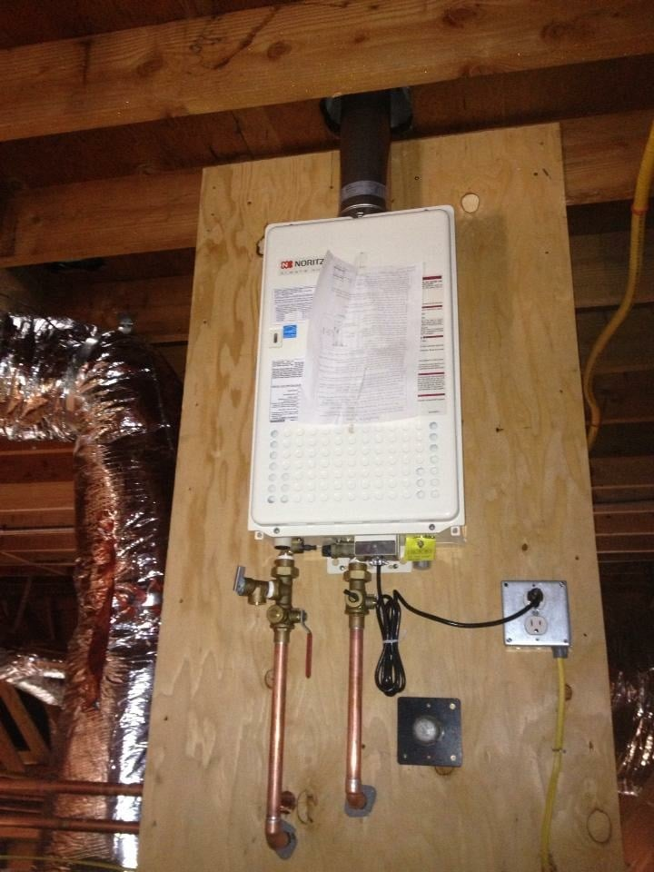 Tankless Water Heater Installation In Attic Yelp