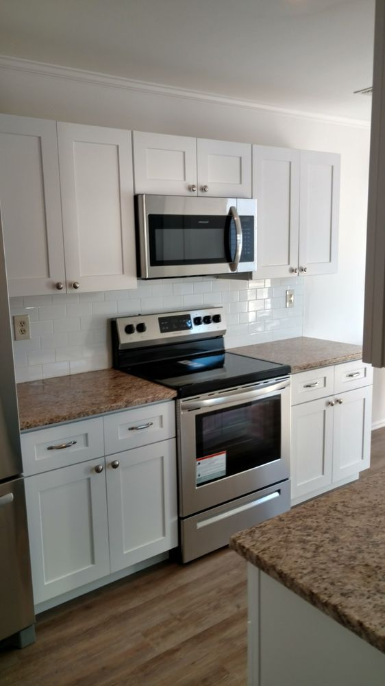 Kitchen Remodel In Manahawkin Nj White Cabinets White Subway New
