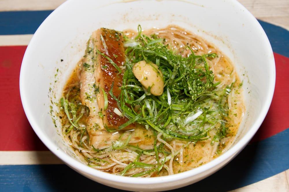 Ivan Ramen Slurp Shop roasted garlic mazemen. - yelp