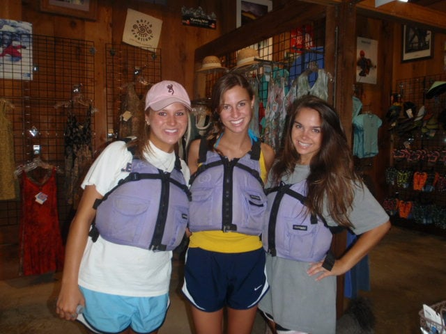 Rachel Newton and friends at Coosa Outdoor Center ready to