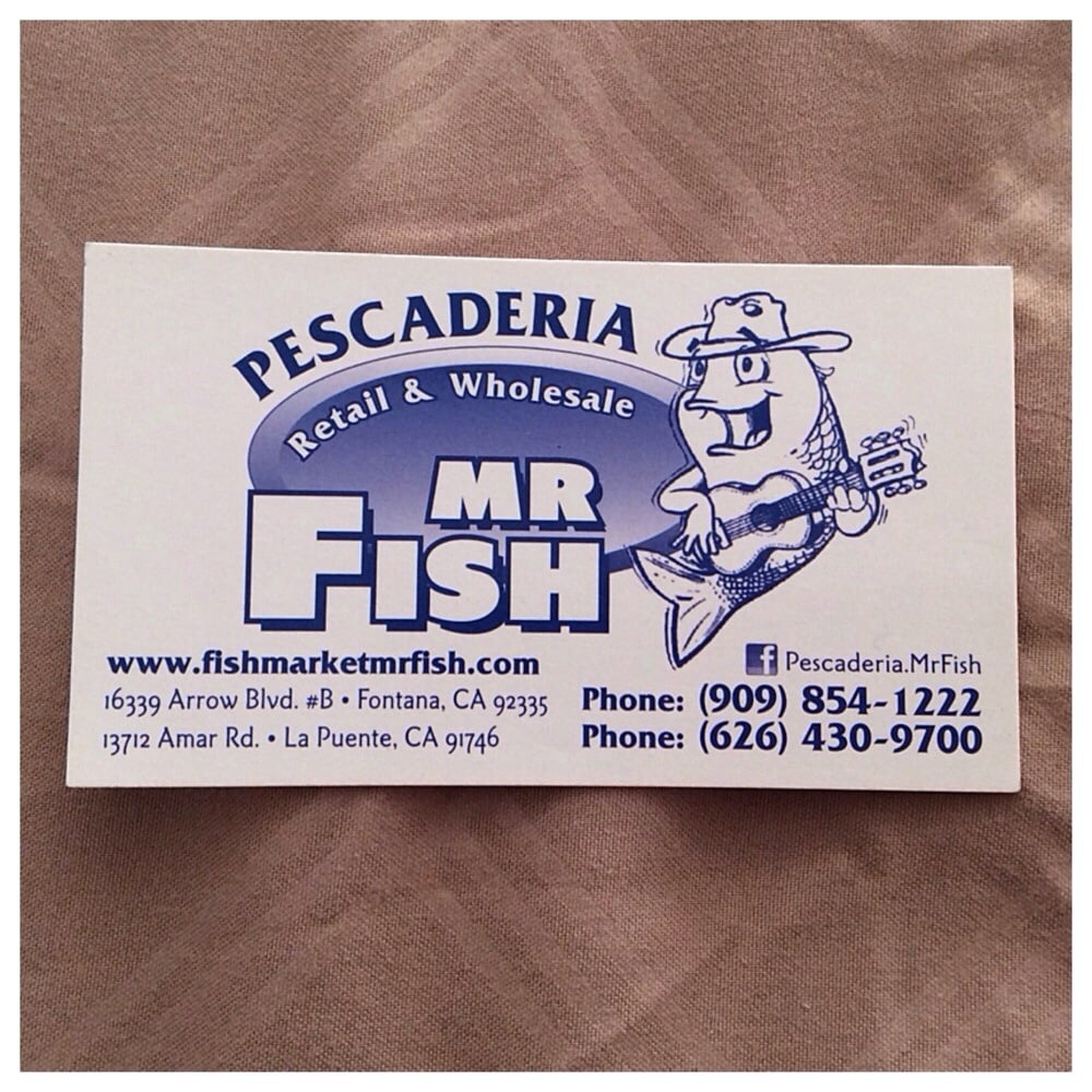 Pescaderia mr fish business card yelp photo of pescaderia mr fish fontana ca united states pescaderia mr fish reheart Images