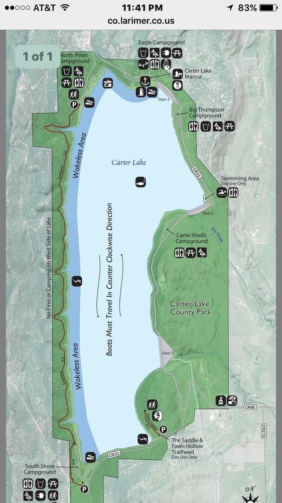Map of Lake Carter   Yelp