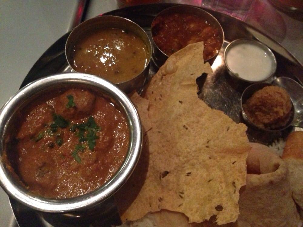 Lamb kebab korma thali jan 3 dinner special yelp for Divan kebab carte
