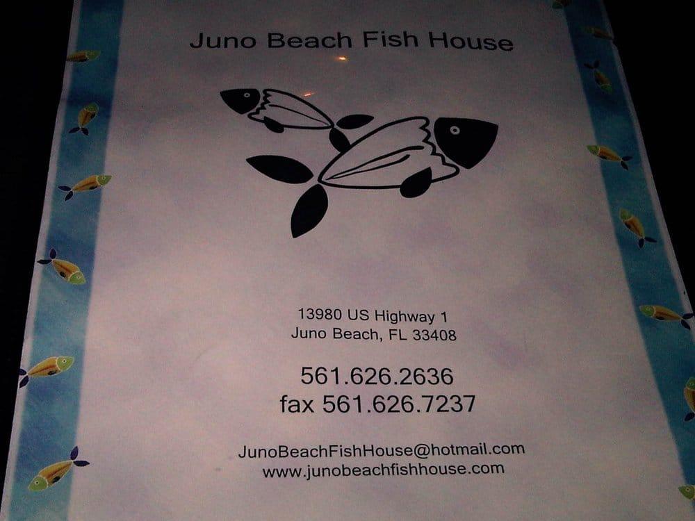 Menu yelp for Juno beach fish house