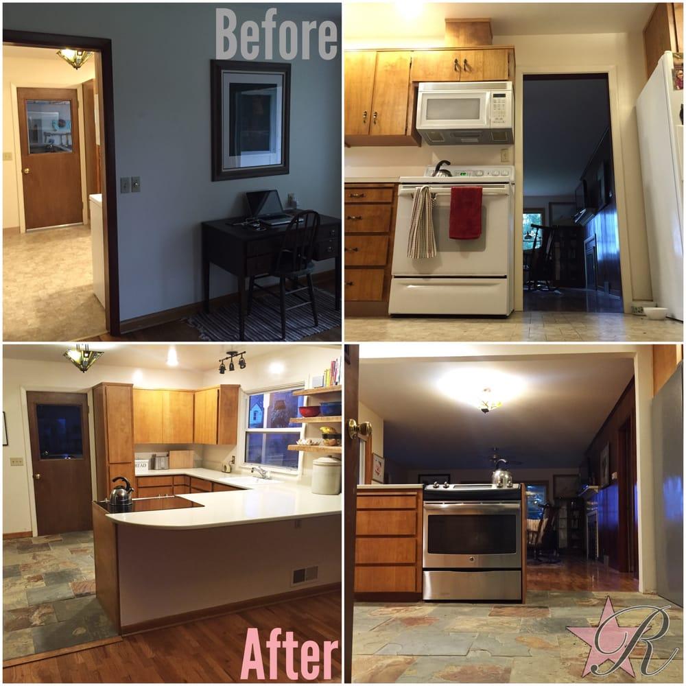 Kitchen Remodel Ventura: Kitchen Remodel Removing Wall, Adding Slate Tile Floor