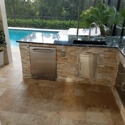 Photo Of Stone Outdoor Kitchens   Tampa, FL, United States. Outdoor Kitchen  North