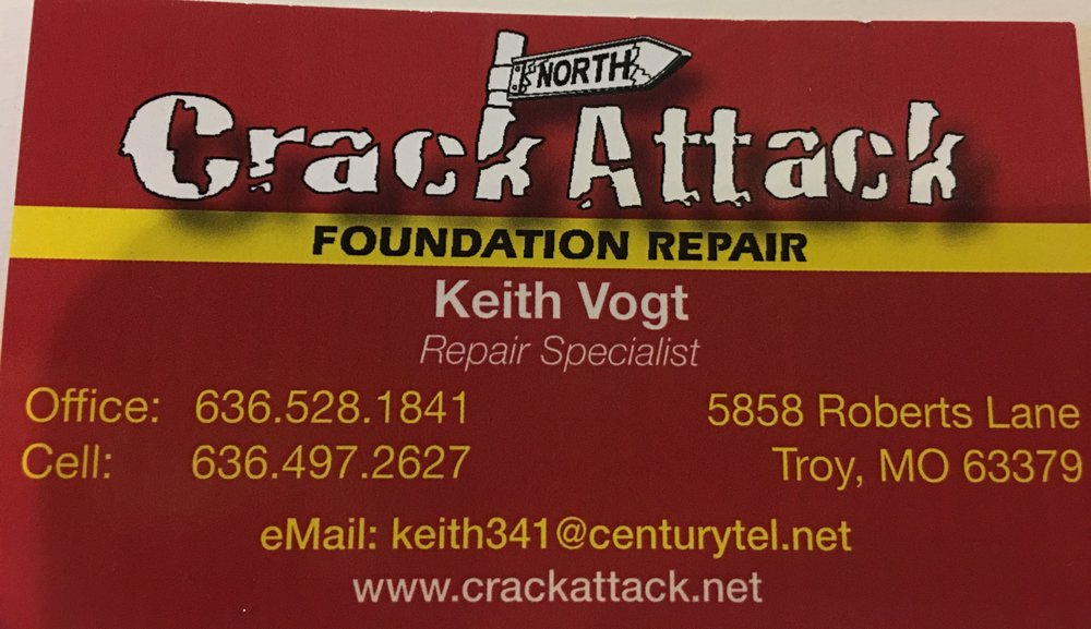Crack Attack Foundation Repair North: 5858 Roberts Ln, Troy, MO