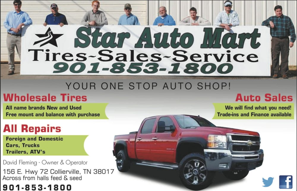 Star Auto Mart - CLOSED - Tires - 156 US Hwy 72 E, Collierville, TN ...