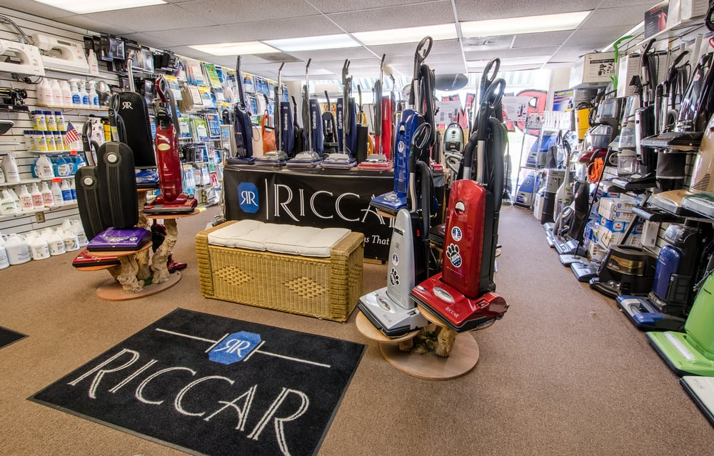 Vacuum Cleaner Display At Whittier Small Appliance Riccar