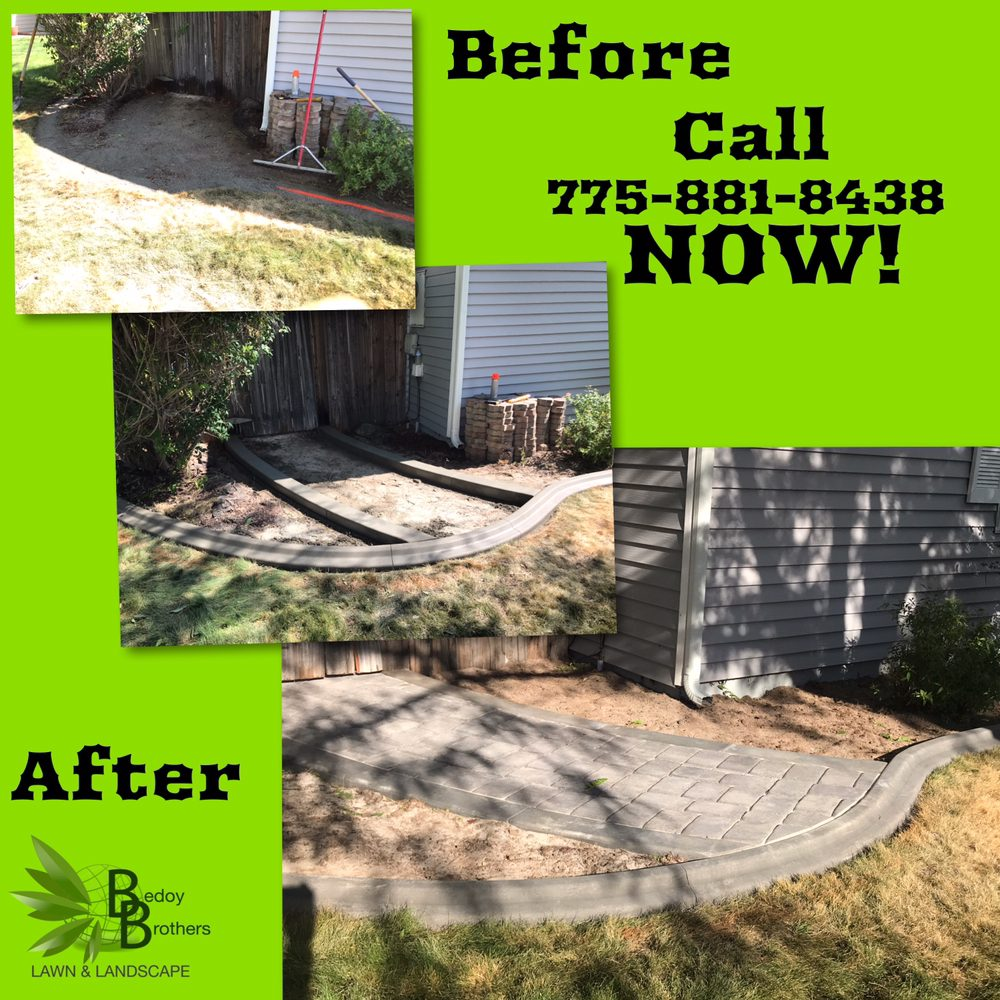 Photo of Bedoy Brothers Lawn & Landscape - Carson City, NV, United States. - Landscaping Carson City NV, Curbing + Paver Job! Done In Carson City