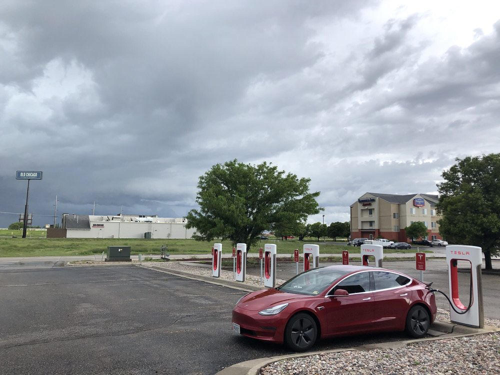 Tesla Supercharger: 4101 Vine St, Hays, KS