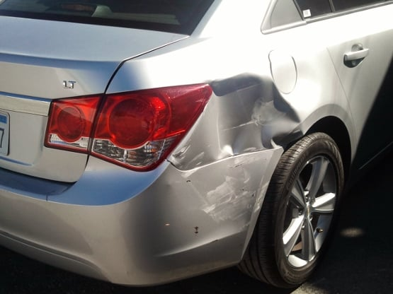 Before right corner panel fix and paint yelp for Auto paint shop las vegas