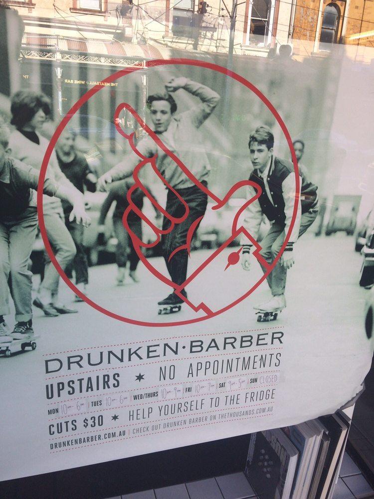 Drunken Barber Hairdressers 119 Smith St Fitzroy Collingwood