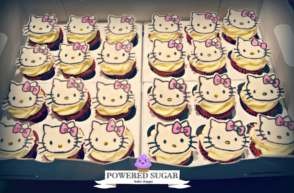red velvet cupcakes with hand drawn hello kitty fondant toppers yelp