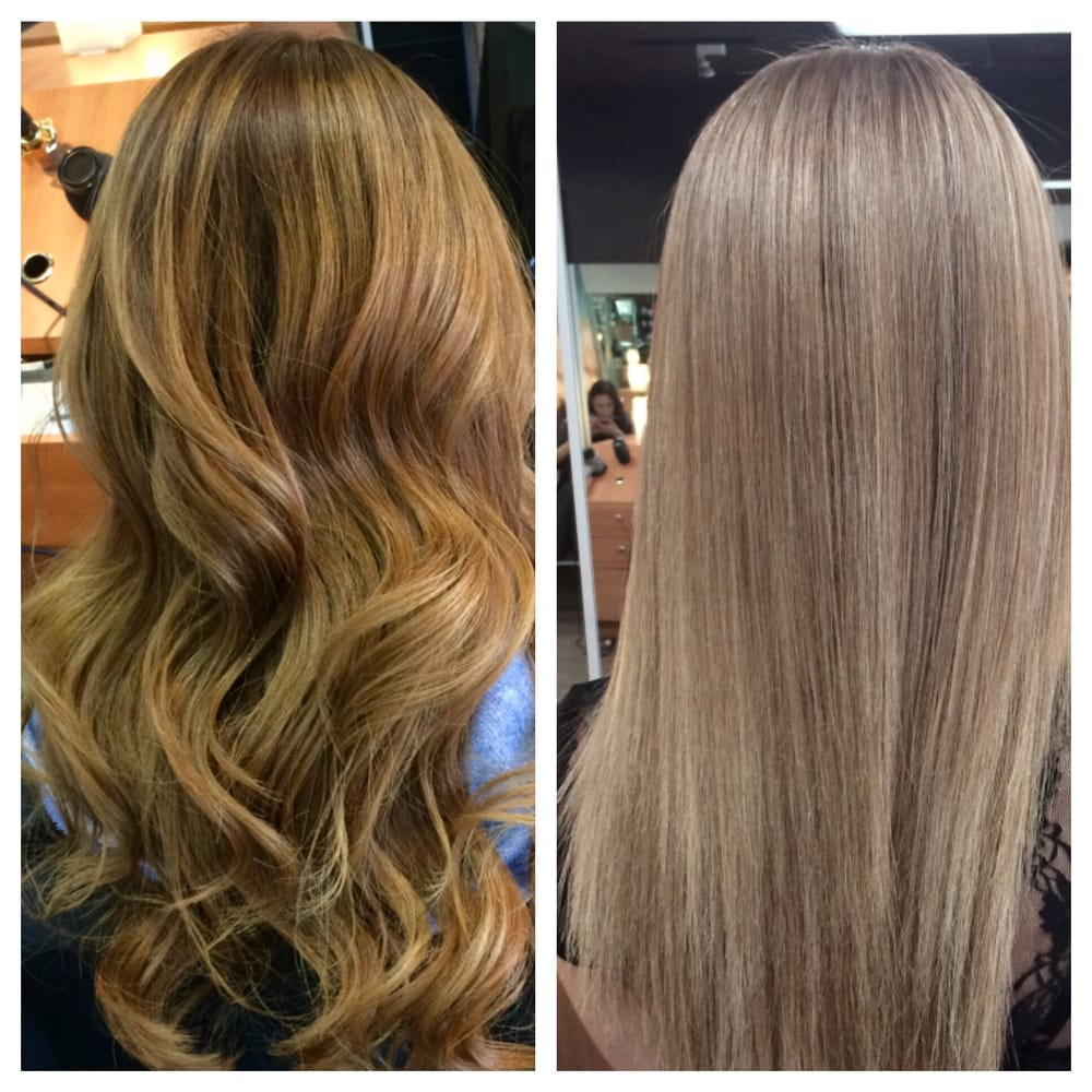 The Left Is My Horrific Hair Before 50 Shades Of Brass The Right