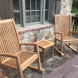 photo of atlanta teak furniture atlanta ga united states front porch rocking