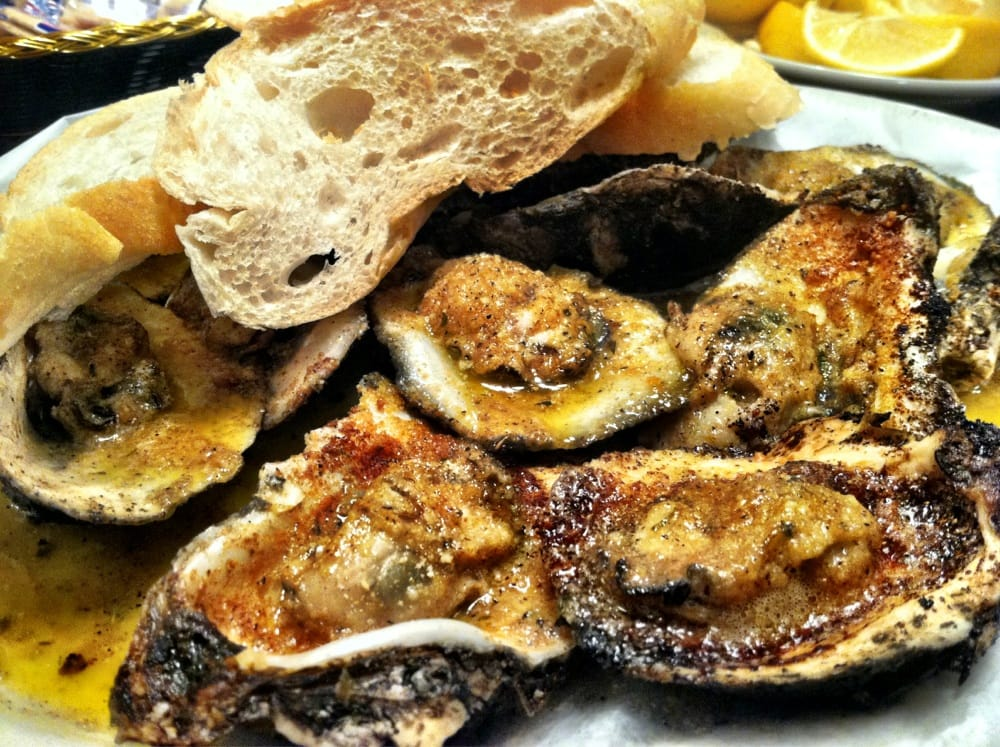 New Orleans Grilled Oysters Char- grilled oysters , complete with ...