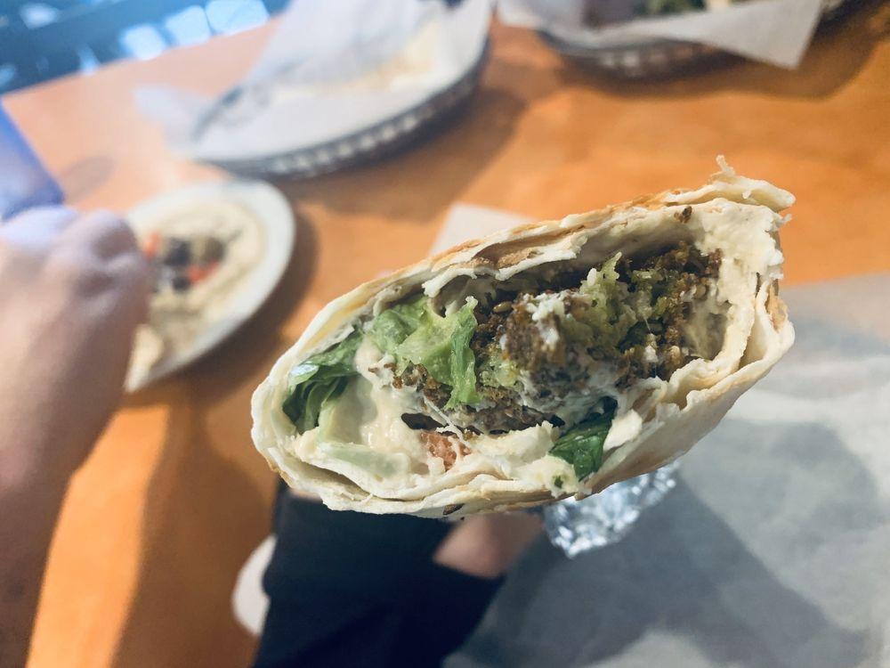 Food from Falafel Hut