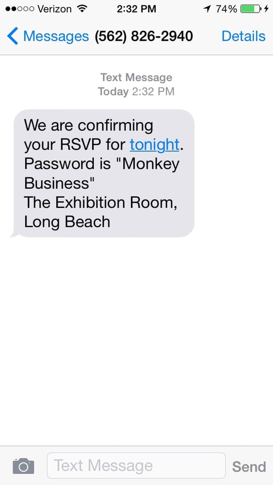 They Confirm Via Text And Give You The Password Then Yelp
