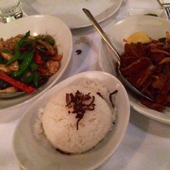 Rangoon Ruby Lemongrass Chicken Coconut Rice Beef Kebat