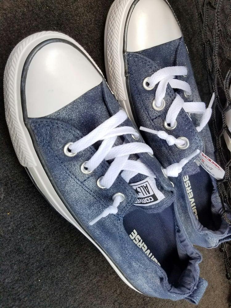 302b38367da8 Converse 545042F Chuck Taylor Shoreline Sparkle sneaker navy  30 - Yelp