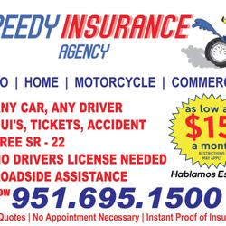 Speedy Insurance Agency - 2995 Van Buren Blvd, Riverside, CA