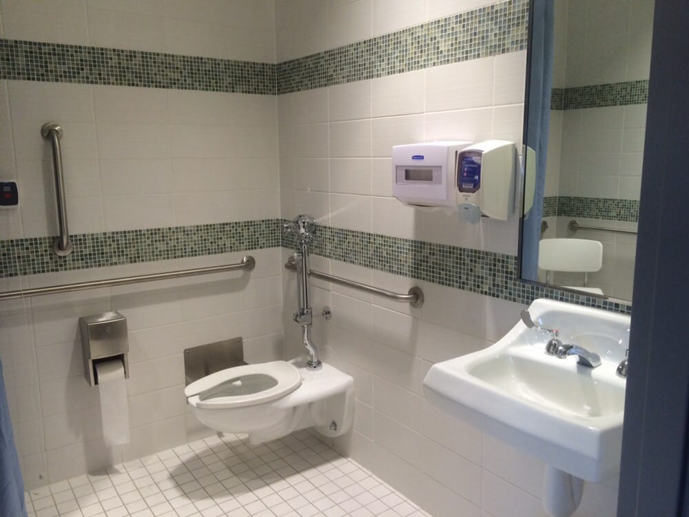The bathroom inside the hospital room   Yelp Photo of Einstein Medical Center Montgomery   East Norriton  PA  United  States  The. Hospital Bathroom. Home Design Ideas