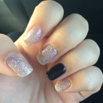 Photo Of Couture Nails Winter Park Fl United States Sparkly Gel Mani