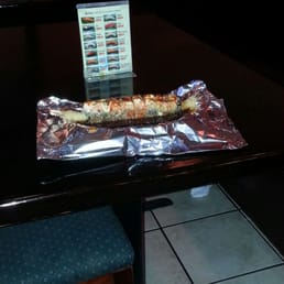Bada Sushi - Suffern, NY, United States. Play bada roll..  Lit on fire and pure deliciousness