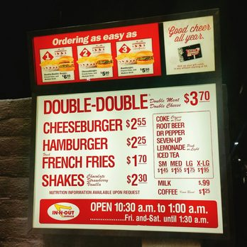 In N Out Menu >> In N Out Burger 135 Photos 173 Reviews Fast Food 594 W 19th