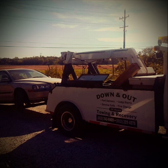Down & Out Towing & Recovery: 10624 E Boring Ave, Terre Haute, IN
