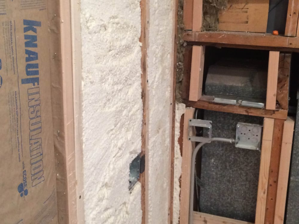 Wall Cavity Filled With Spray Foam Yelp