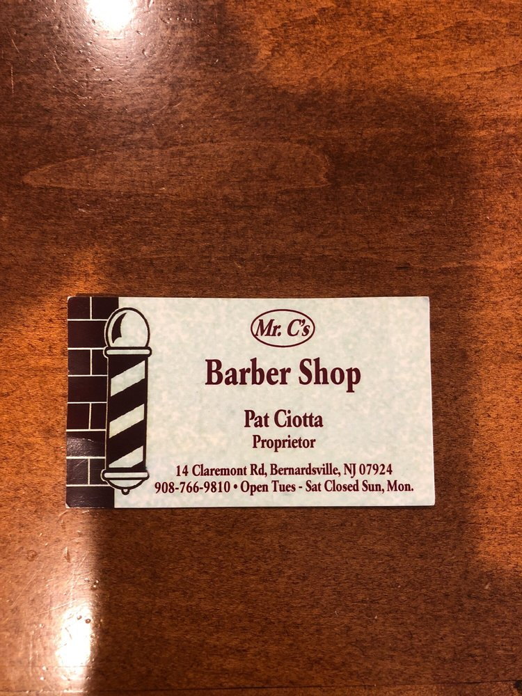 Mr C's Men's Barber Shop: 14 Claremont Rd, Bernardsville, NJ